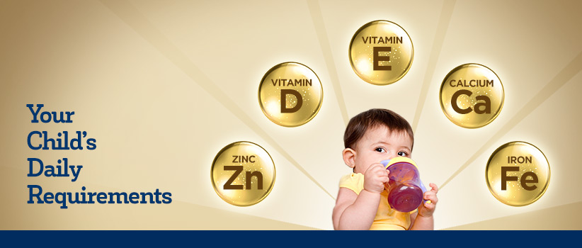 Childs daily vitamin requirements