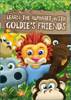 Learn The Alphabet With Goldie's Friends Book Cover